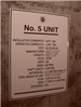 Number 5 unit name plate
