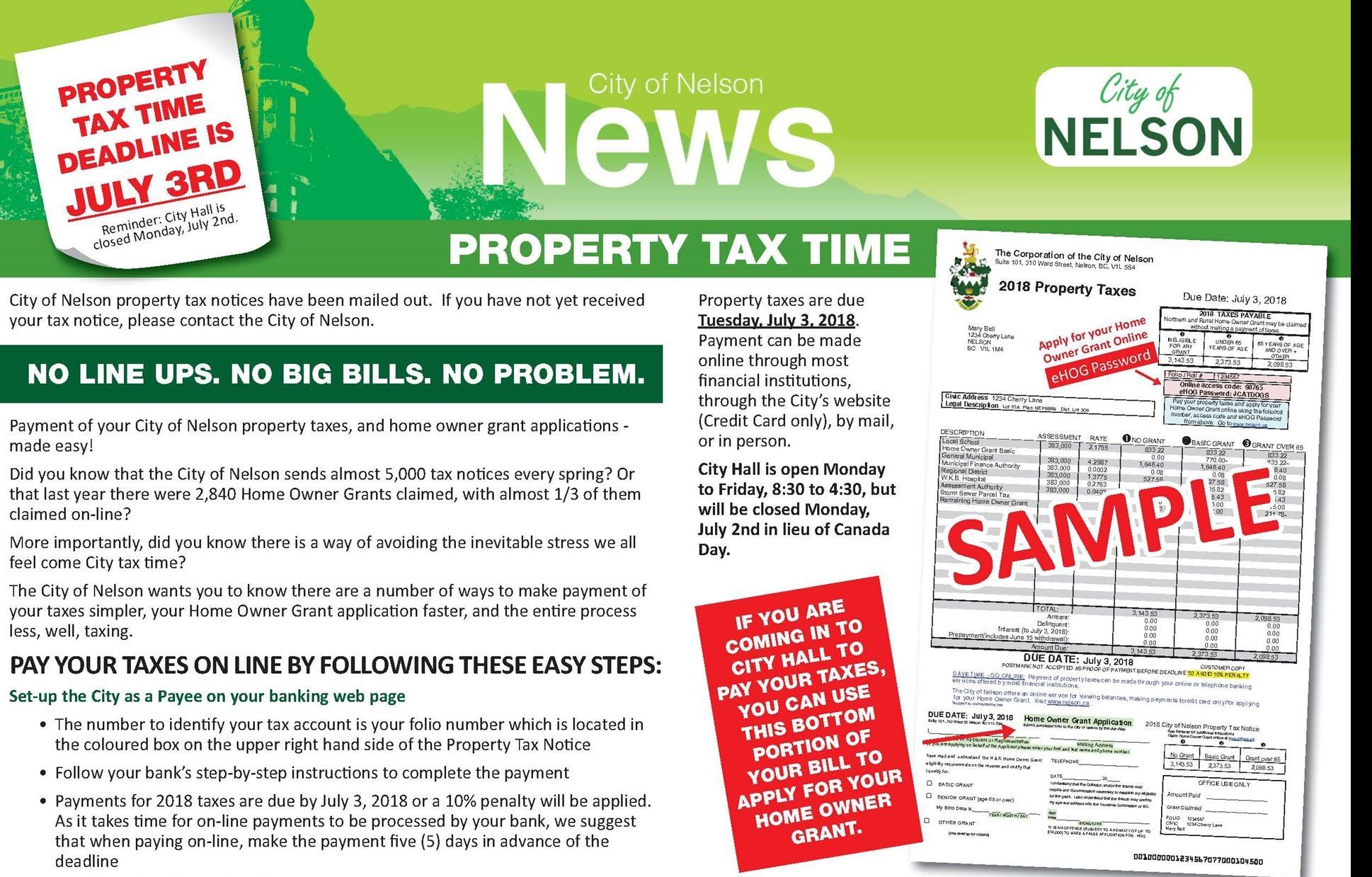 Property Tax 2018