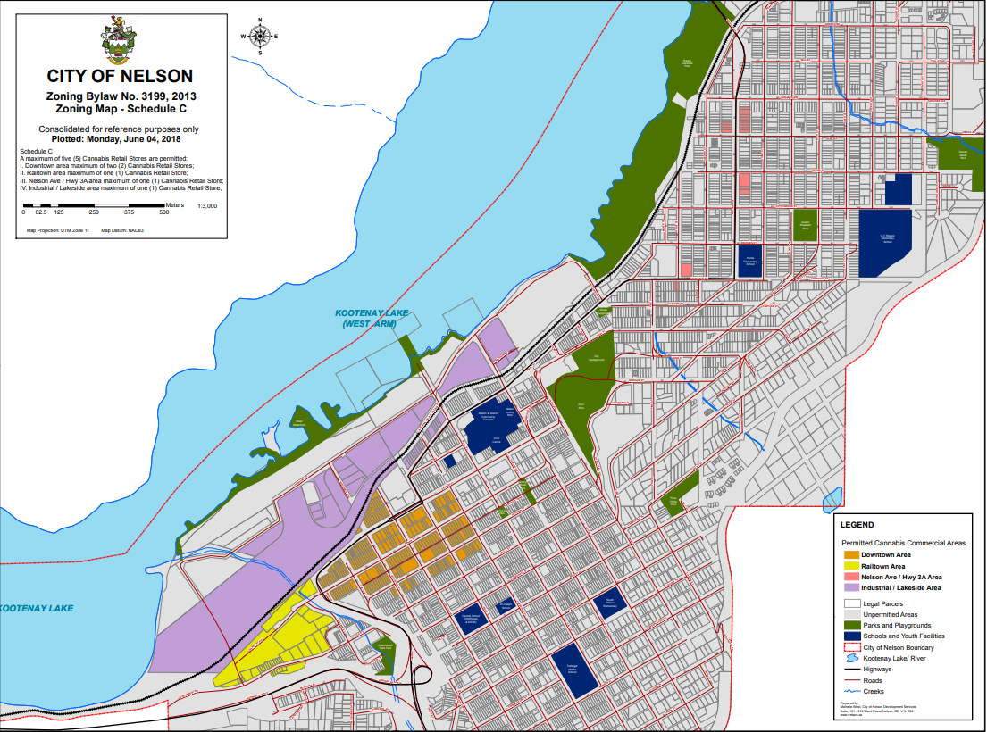 Cannabis zoning map