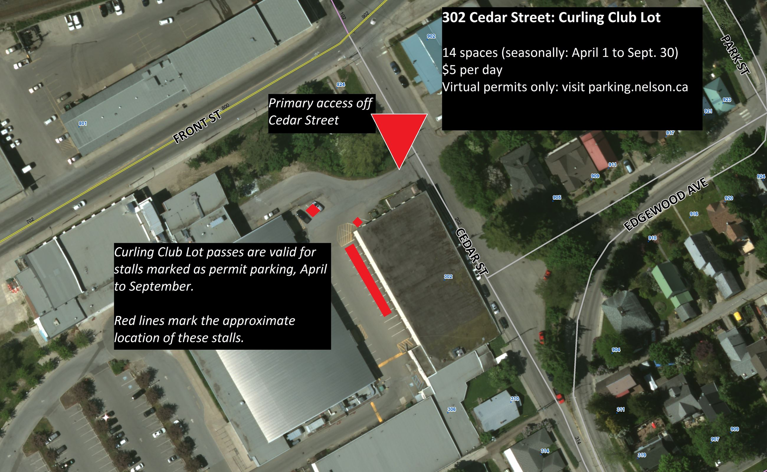 Curling club lot - map Opens in new window