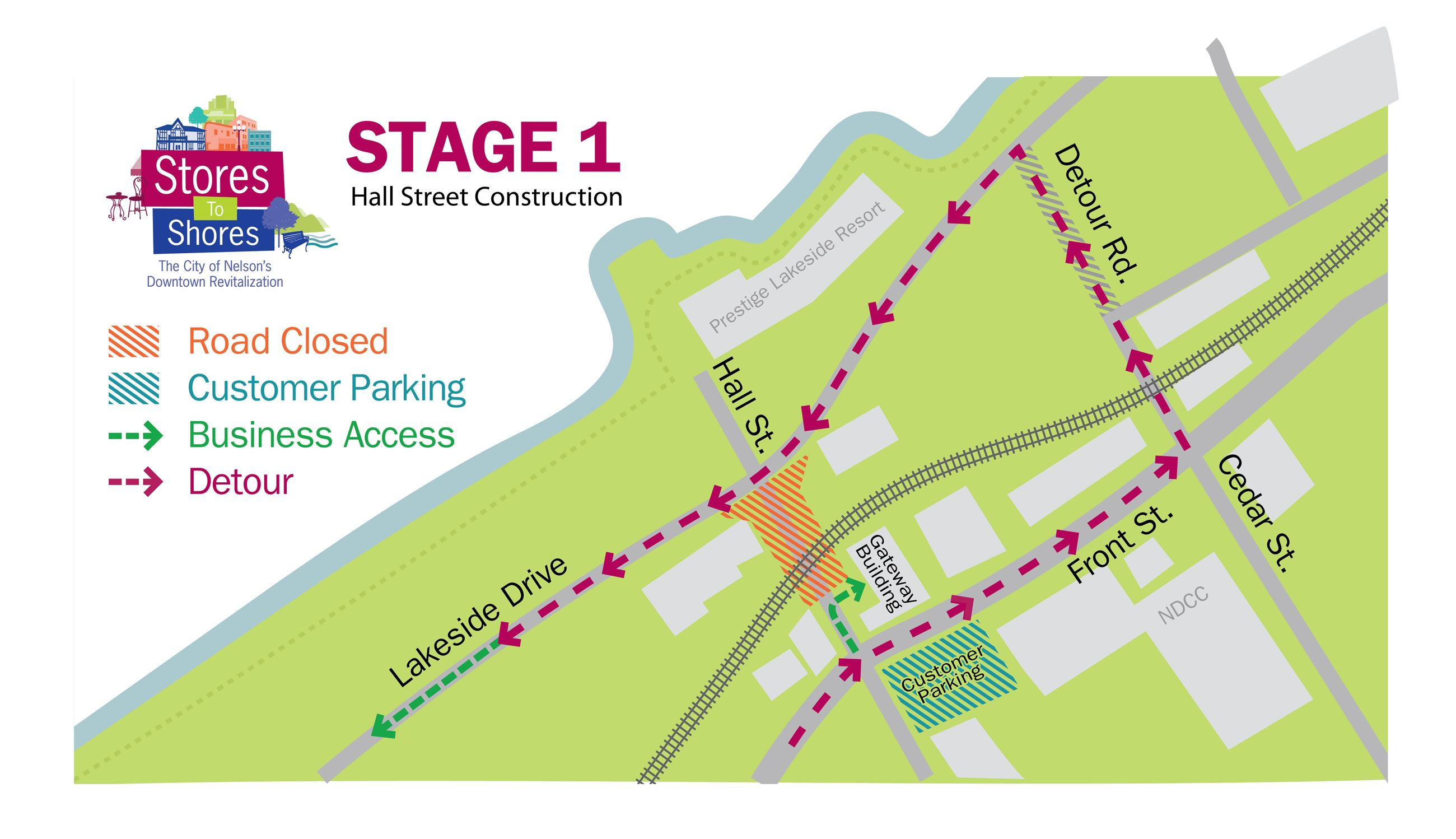 Stage One Hall Street Map