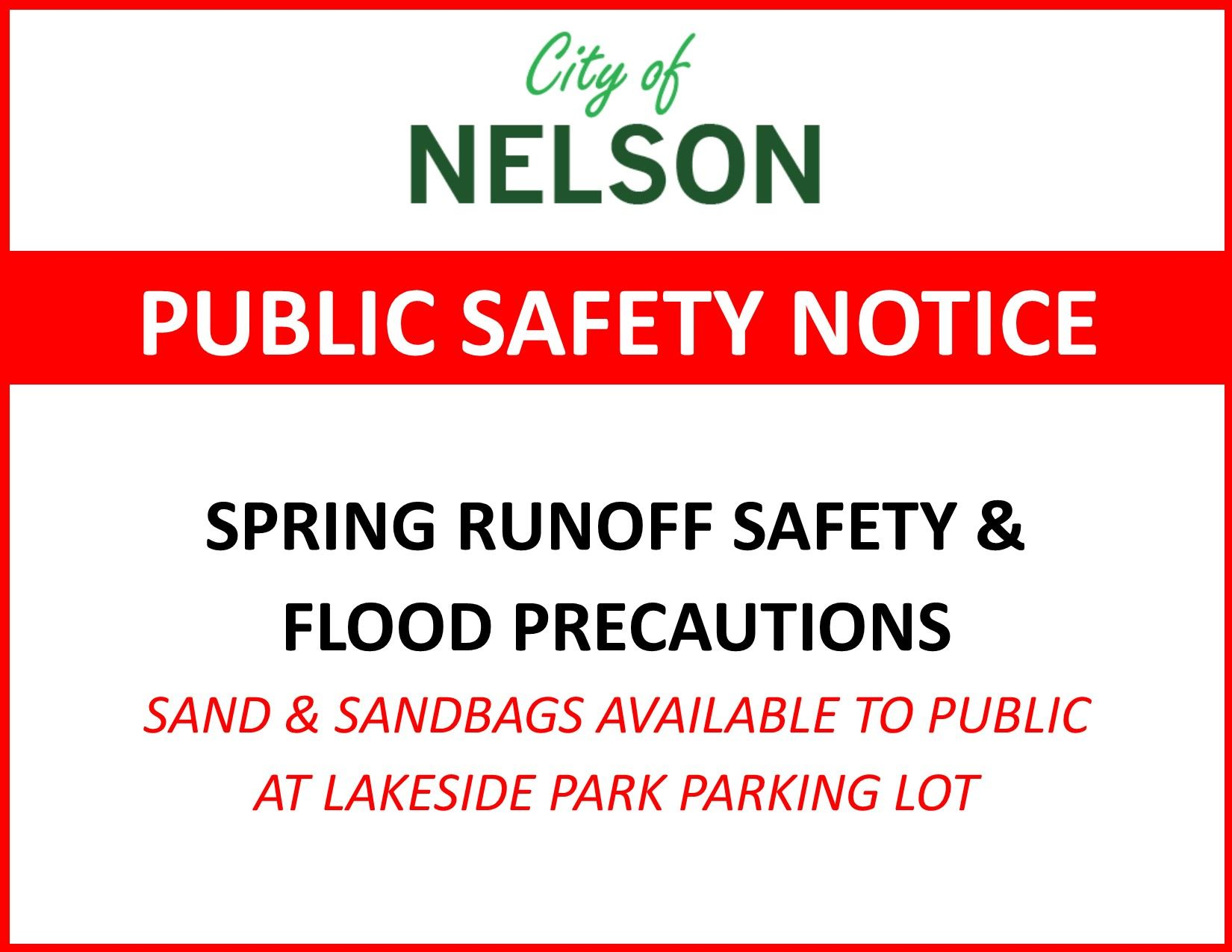 Public Safety Notice Spring Runoff