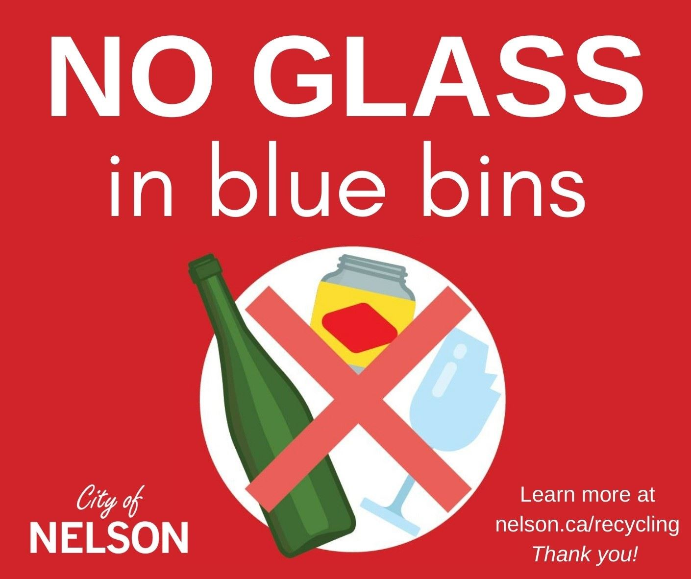 No glass in blue bins facebook