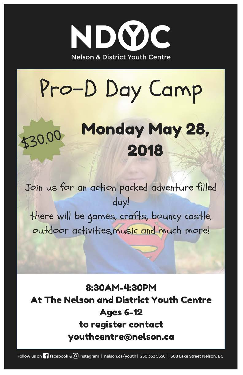 Pro-d Day camp - May 28, 2018