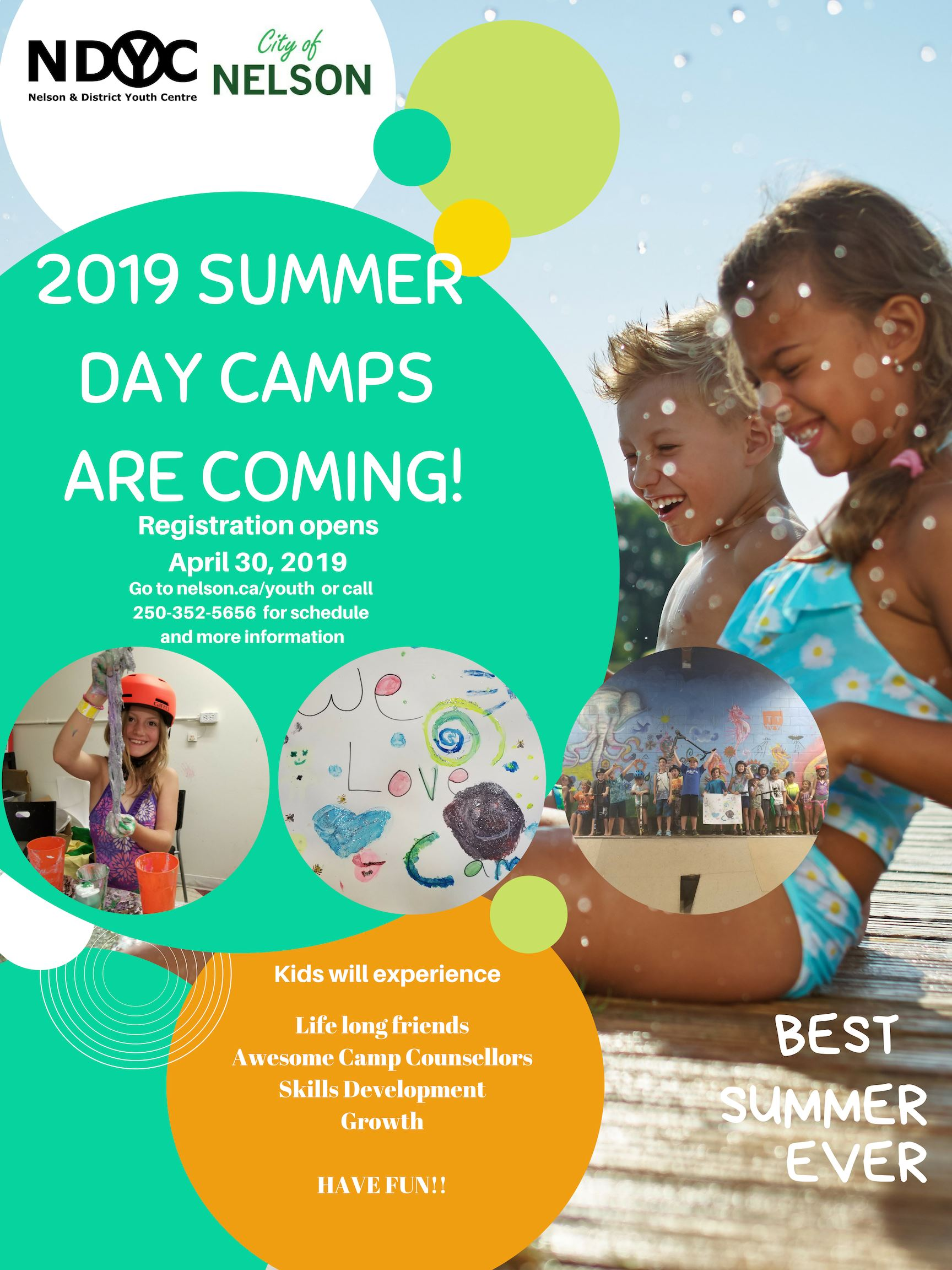 2019 Summer camp poster